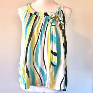 Ella Moss   Colorful Striped flowy sleeveless top